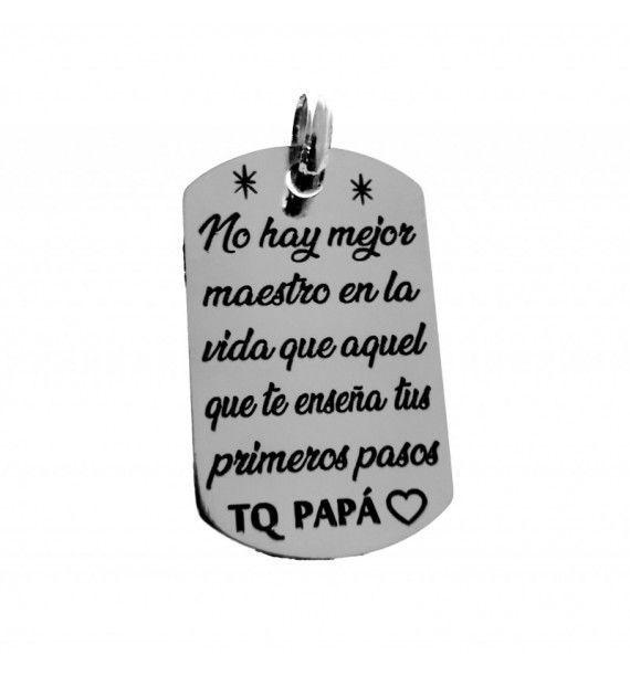 Chapa mensaje para el padre