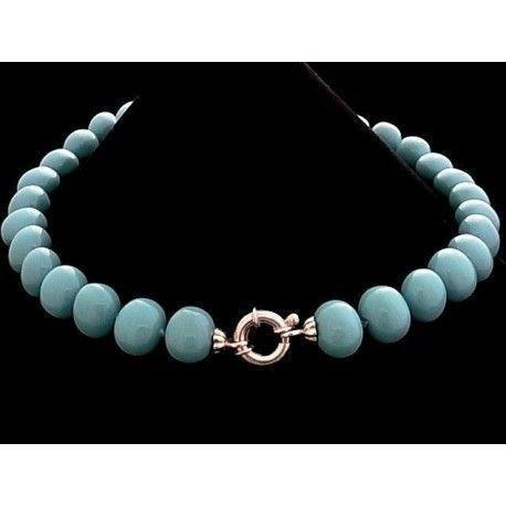 Collar turquesa 30 perlas