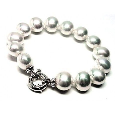 Pulsera perla shell