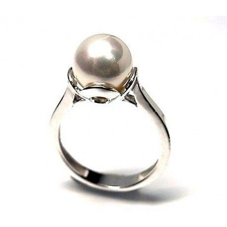 Sortija perla shell