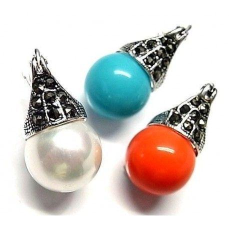 Pendiente perla color