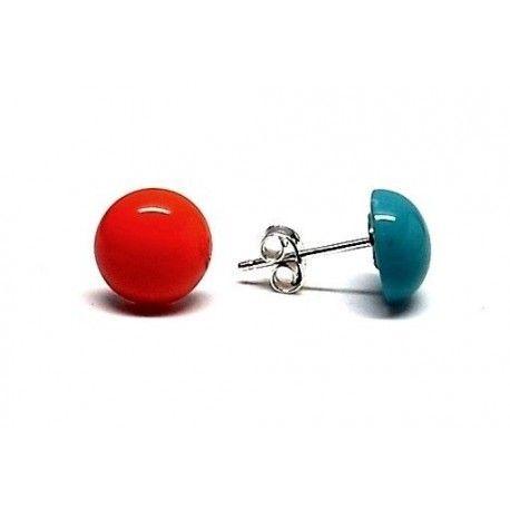 Pendiente m/perla color