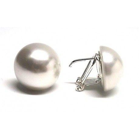 Pendiente perla m/b omega 18mm