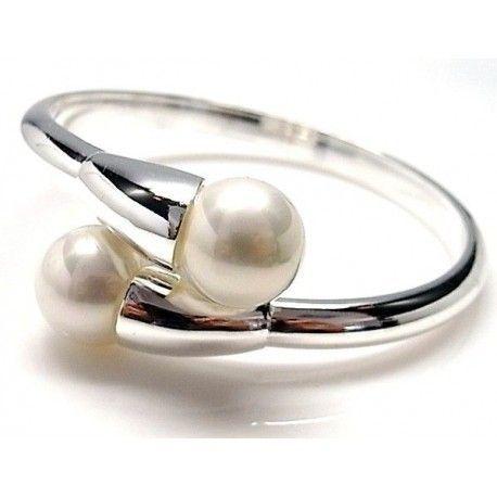 Brazalete dos shell blanco
