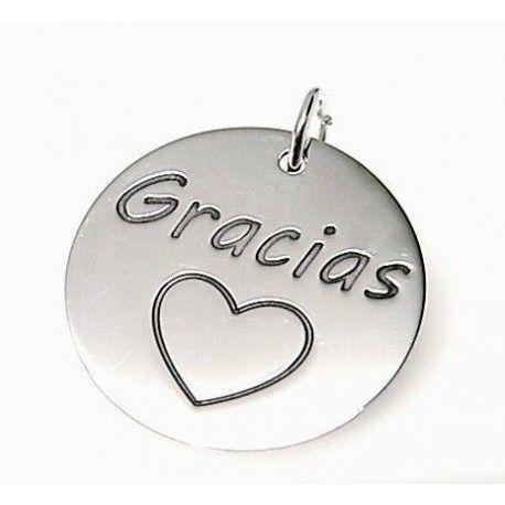 "Colgante ""gracias"" corazón"
