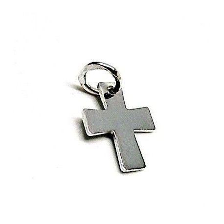 Colgante liso cruz