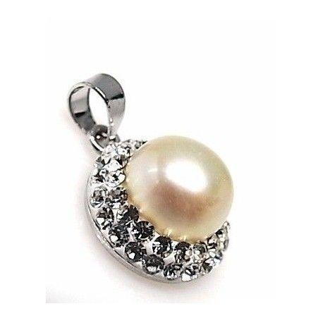 Colgante perla simil