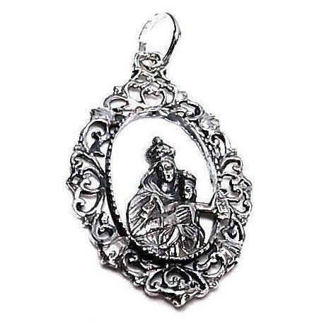 Colgante liso Virgen del Carmen